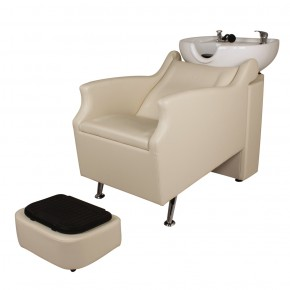 """ISLAND"" Backwash Shampoo Unit in Light Beige"