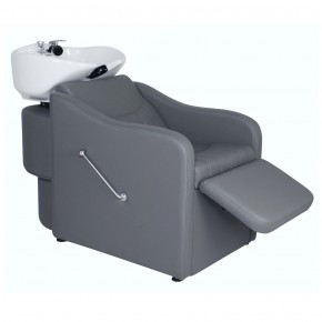"""TAPER"" Backwash Shampoo System in Grey, Grey Backwash Shampoo Bowl, Grey Shampoo Sink"