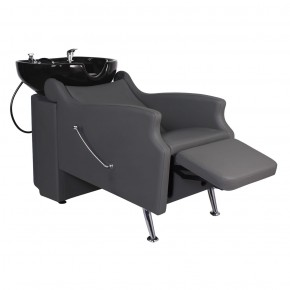 """MISSISSIPPI"" Shampoo Backwash Unit in Grey, Grey Shampoo Bowl, Grey Shampoo Chair"