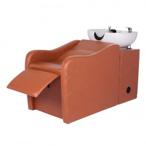 """GABRIELLE"" Shampoo Backwash Unit in in Chestnut"