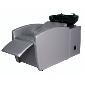 """RIO"" Backwash Shampoo System in Platinum SIlver, ""RIO"" Silver Shampoo Sink & Chair"
