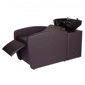 """RIO"" Brown Shampoo Backwash Unit - Brown Backwash Shampoo Bowls, Brown Salon Shampoo Bowl & Chair Combo"