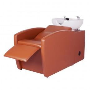 """RIO"" Shampoo Backwash Unit in Chestnut"
