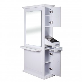 """SIENA"" Double Sided Salon Station for sale, free standing styling stations, salon station packages"