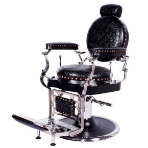"""ZENO"" Antique Barbershop Chair in Patent Crocodile"